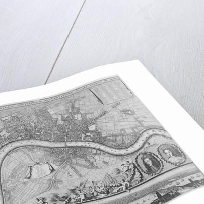 Map of London by Johannes de Ram