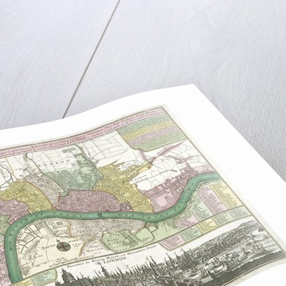 Map of Westminster, the City of London and Southwark by Johann Thomas Kraus