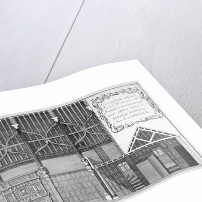 Interior elevation of Trinity Hall, City of London by
