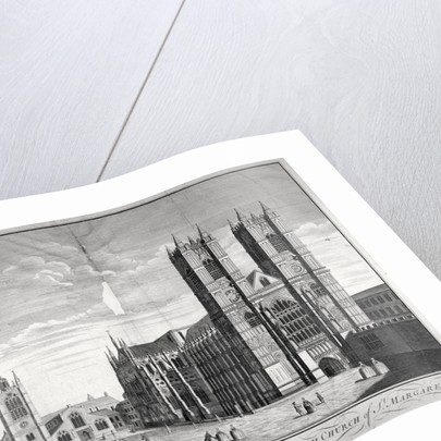 East view of Westminster Abbey and St Margaret's Church, London by