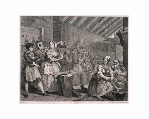 In Bridewell beating hemp, plate IV of The Harlot's Progress by George Shepherd