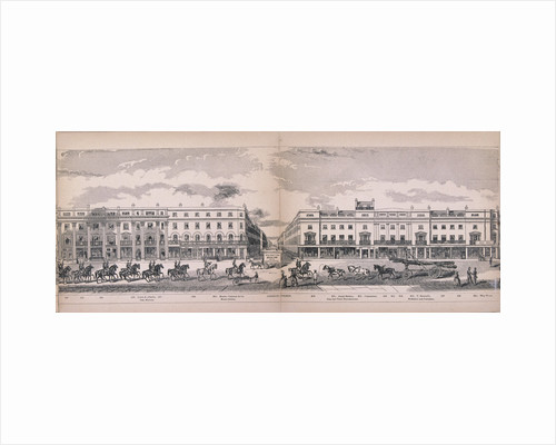 """Panorama of London by from """"Ackermann's Long Prints"""" published by Ackermann"""