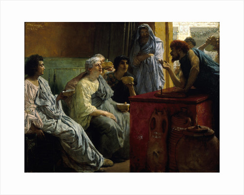 The Wine Shop by Sir Lawrence Alma-Tadema