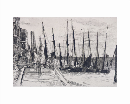 Boats alongside Billingsgate, London by James Abbott McNeill Whistler