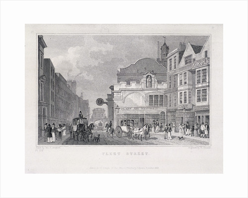 Fleet Street, London, 1831 by W Henshall