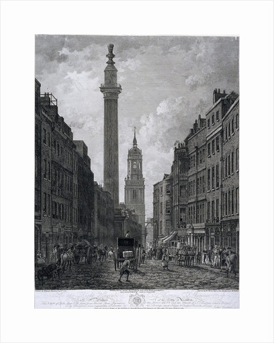 Fish Street Hill, London by George Cruikshank