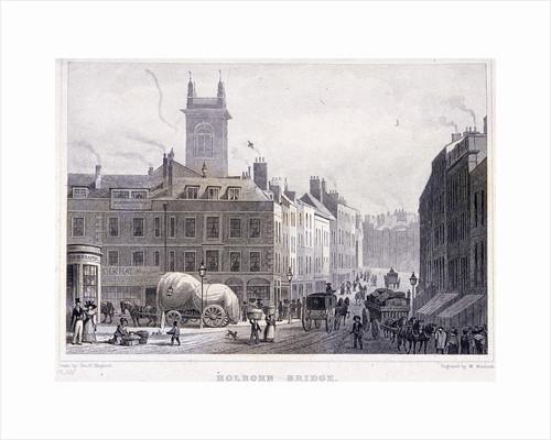Holborn Bridge, London by William Woolnoth