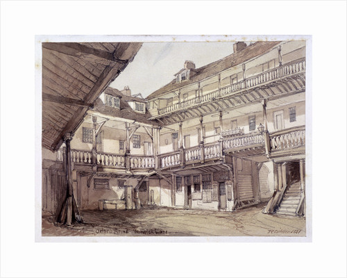 Courtyard of the Oxford Arms Inn, Warwick Lane, London by Anonymous