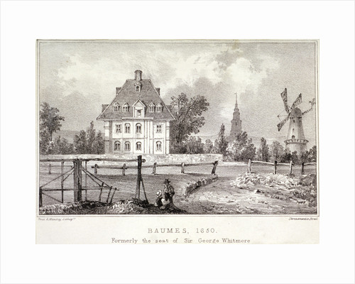 View of Baumes House, Hoxton, London, c1830? by Corbis