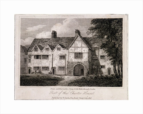 View of part of the Charterhouse, Finsbury, London by John Greig