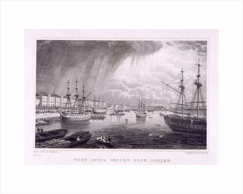 West India Docks, Poplar, London by Thomas Barber