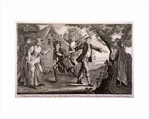The Humorous Diversion of the Country Play at Blindmans Buff, Vauxhall Gardens, London by German School