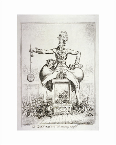 The giant-factotum amusing himself' - William Pitt by James Gillray