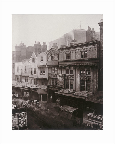 View of houses and shops in Aldersgate Street by Henry Dixon