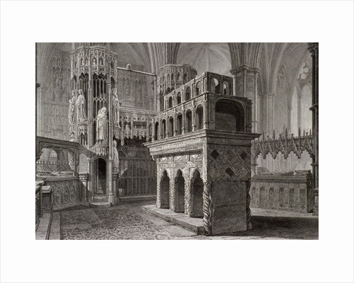 Edward the Confessor's mausoleum, in the king's chapel, Westminster Abbey, London by Unknown