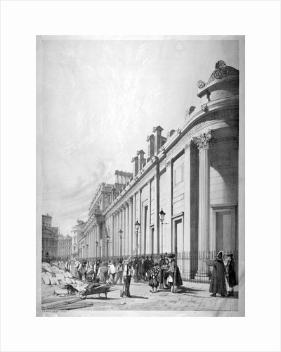 View of the Bank of England, City of London by Thomas Shotter Boys