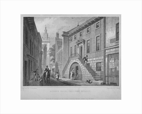 View of the Dyers' Hall, College Street, City of London by John Greig