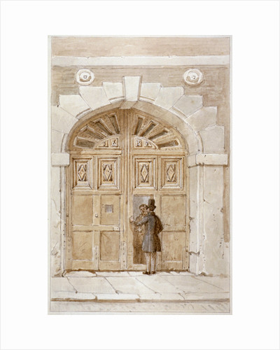 View of wooden gates dated 1631, at no 46 Lime Street by James Findlay