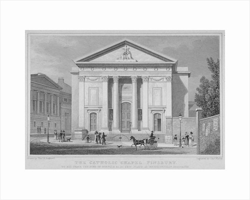 St Mary's Roman Catholic Church, Moorfields, City of London by Thomas Barber