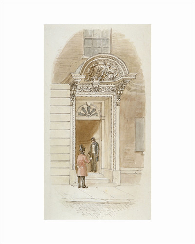View of the doorway of no 4 Mincing Lane, City of London by James Findlay