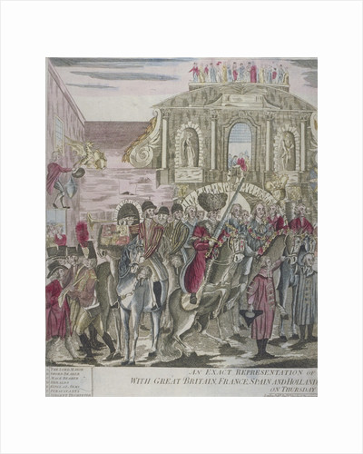 The proclamation of peace at Temple Bar, London, 29 April 1802 by Anonymous