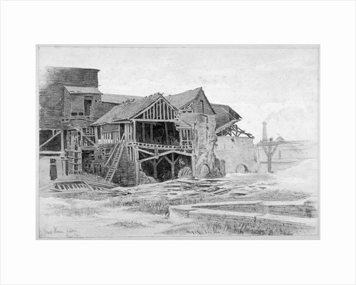 View of the old lime works, Nine Elms, Battersea, London by Philip Howard