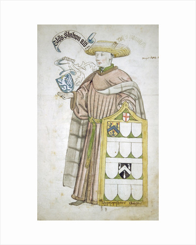 Thomas Chalton, Lord Mayor of London 1449-1450, in aldermanic robes by Roger Leigh