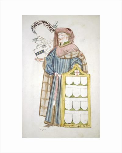 Geoffrey Feldynge, Lord Mayor of London 1452-1453, in aldermanic robes by Roger Leigh