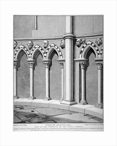 Part of the vestibule of the Temple Church, City of London by William Arthur Breakspeare