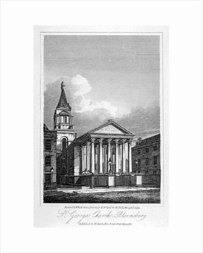 St George's Church, Bloomsbury, Holborn, London by W Wallis