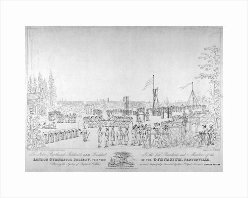 View of the London Gymnastic Society Gymnasium, Pentonville, London by Thomas Sutherland