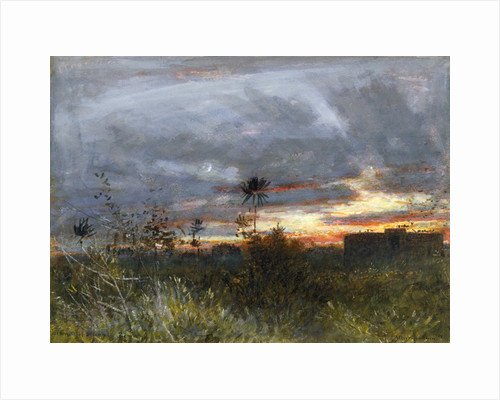 The Towers of Silence, Bombay by Albert Goodwin