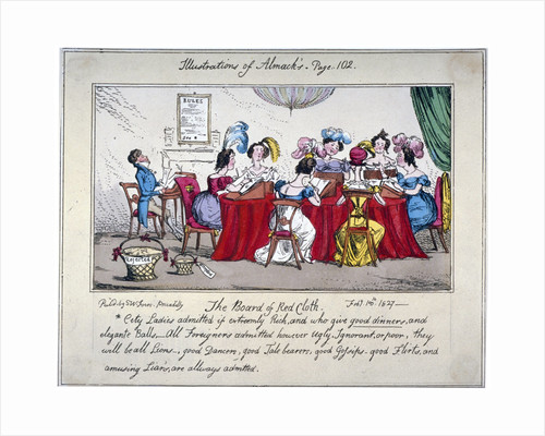 The board of Red cloth, City ladies admitted if extreemly Rich... by Unknown