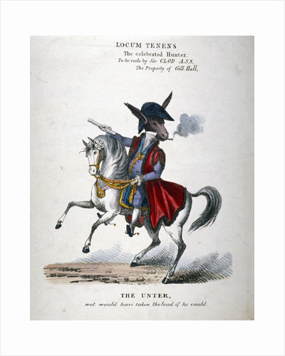 Locum Tenens, the celebrated Hunter by unknown