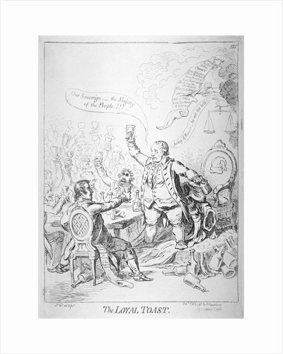 The loyal toast by James Gillray