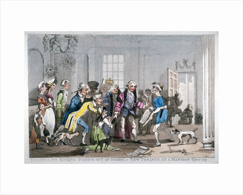 Hospitality kicking Avarice out of doors; or, new tenants at the Mansion House by Anonymous