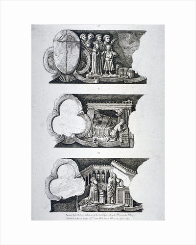Three bas-reliefs in Edward the Confessor's Chapel, Westminster Abbey, London by Anonymous