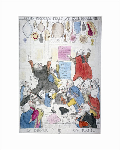 Lord Mayor's feast at Guildhall, 1786, no dinner - no ball by Anonymous