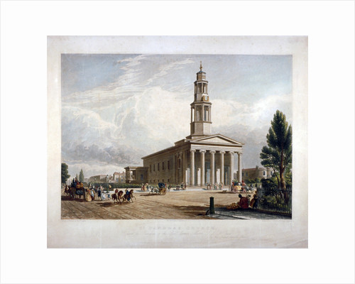 St Pancras New Church on the Euston Road, London by Robert Dudley