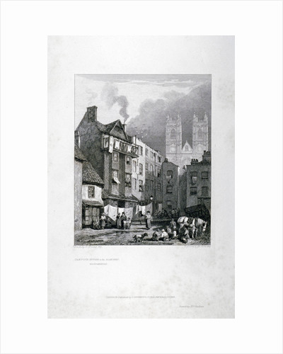 William Caxton's house in the Almonry, Westminster, London by George Cooke
