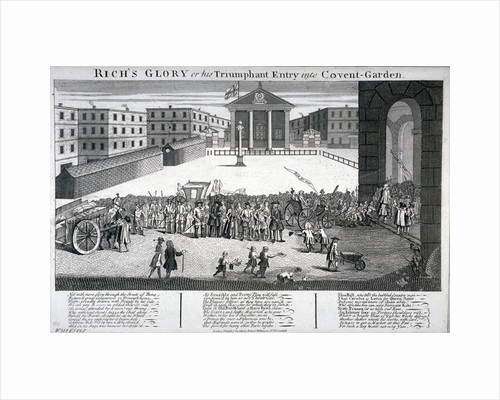 Rich's Glory or his Triumphant Entry into Covent-Garden by Anonymous