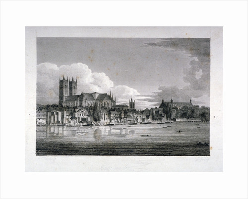 Westminster Abbey from the River Thames, London by John Greig