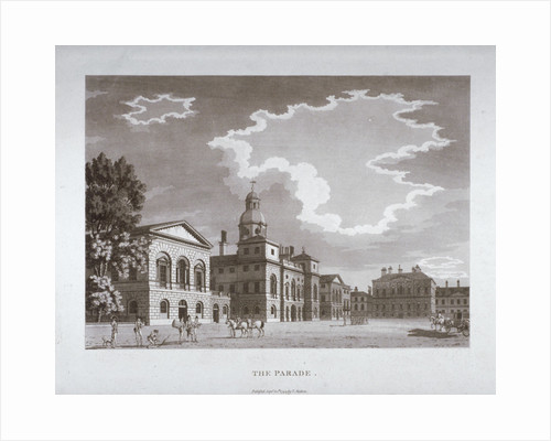 View of the parade at Horse Guards, Westminster, London by Anonymous