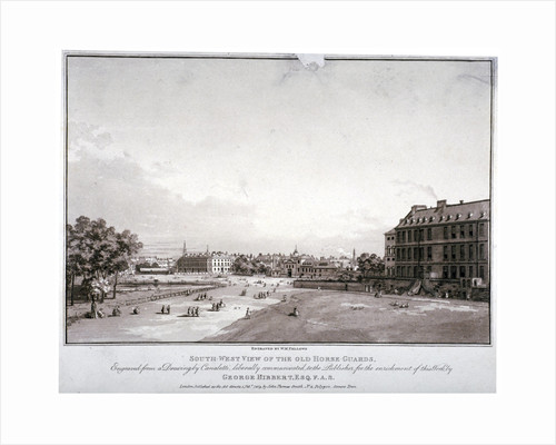 South-west view of Horse Guards, Westminster, London by William Fellows