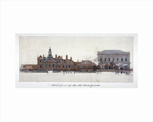 East front of Horse Guards, Westminster, London by Edward Rooker