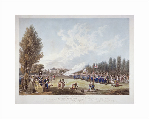 The Hans-Town Association exercising at their ground in Knightsbridge, London by Joseph Constantine Stadler