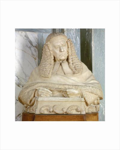 Portrait bust of Lord Brampton, British judge by Joseph William Swynnerton