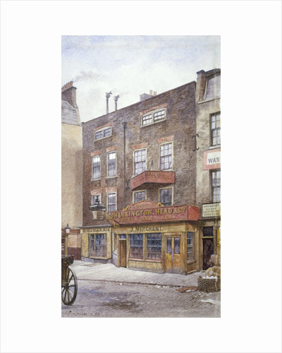 View of the Old Black Jack Inn, Portsmouth Street, Westminster, London by JT Wilson