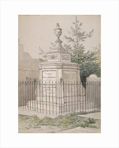 William Hogarth's tomb in St Nicholas' churchyard, Chiswick, Hounslow, London by William Hogarth