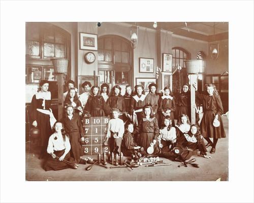 Girls sports club members, Cromer Street School/Argyle School, St Pancras, London, 1906 by Unknown